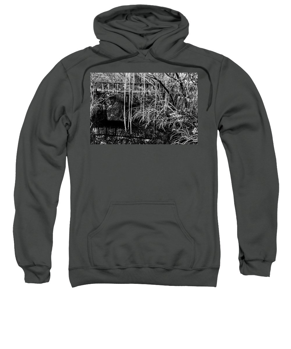 Wood Walkway Sweatshirt featuring the photograph Two Sides by Stephen Gray
