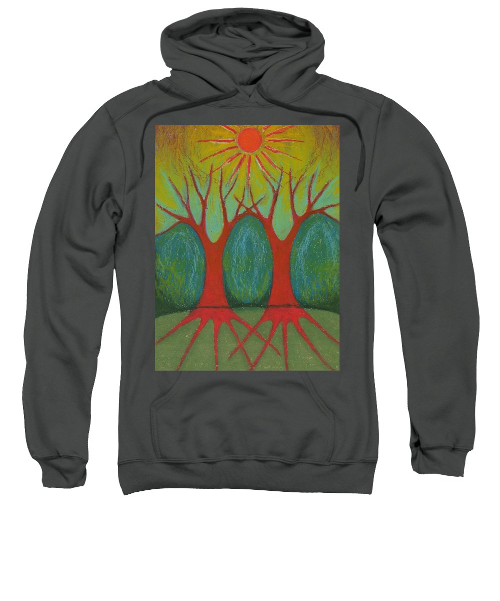 Colour Sweatshirt featuring the pastel Two Worlds by Wojtek Kowalski