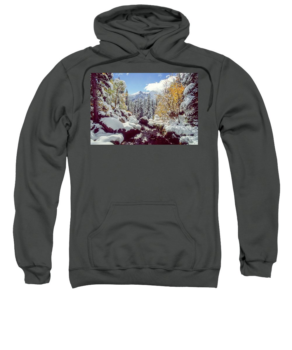 Landscape Sweatshirt featuring the photograph Tyndall Creek by Eric Glaser
