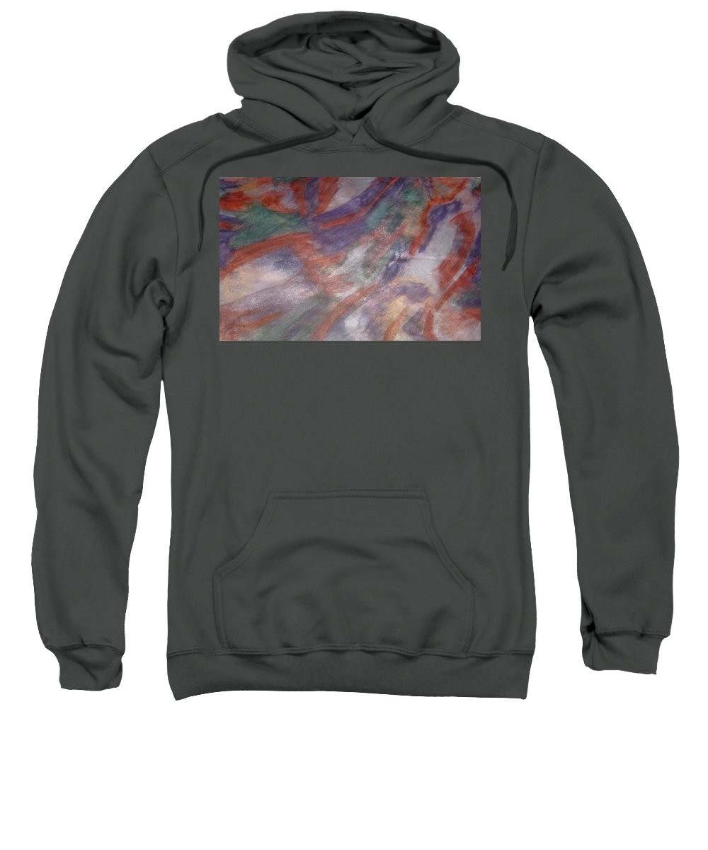 Non Duality Sweatshirt featuring the painting Unclaimed Talent by Paula Andrea Pyle
