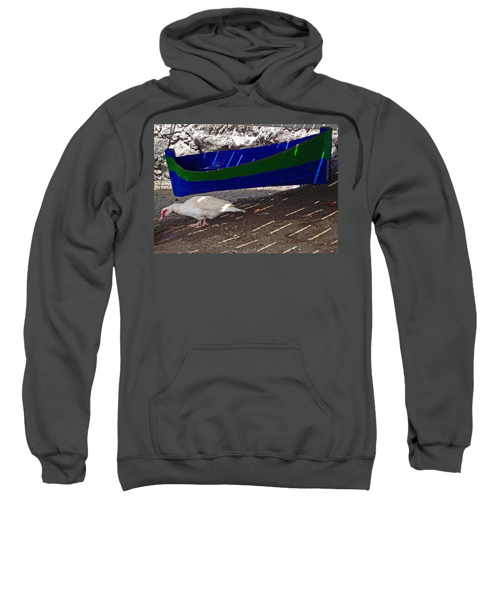 Boat Sweatshirt featuring the photograph Under The Boardwalk 3 by Charles Stuart