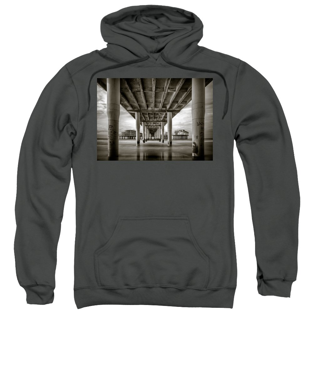 Pier Sweatshirt featuring the photograph Under The Boardwalk by Dave Bowman
