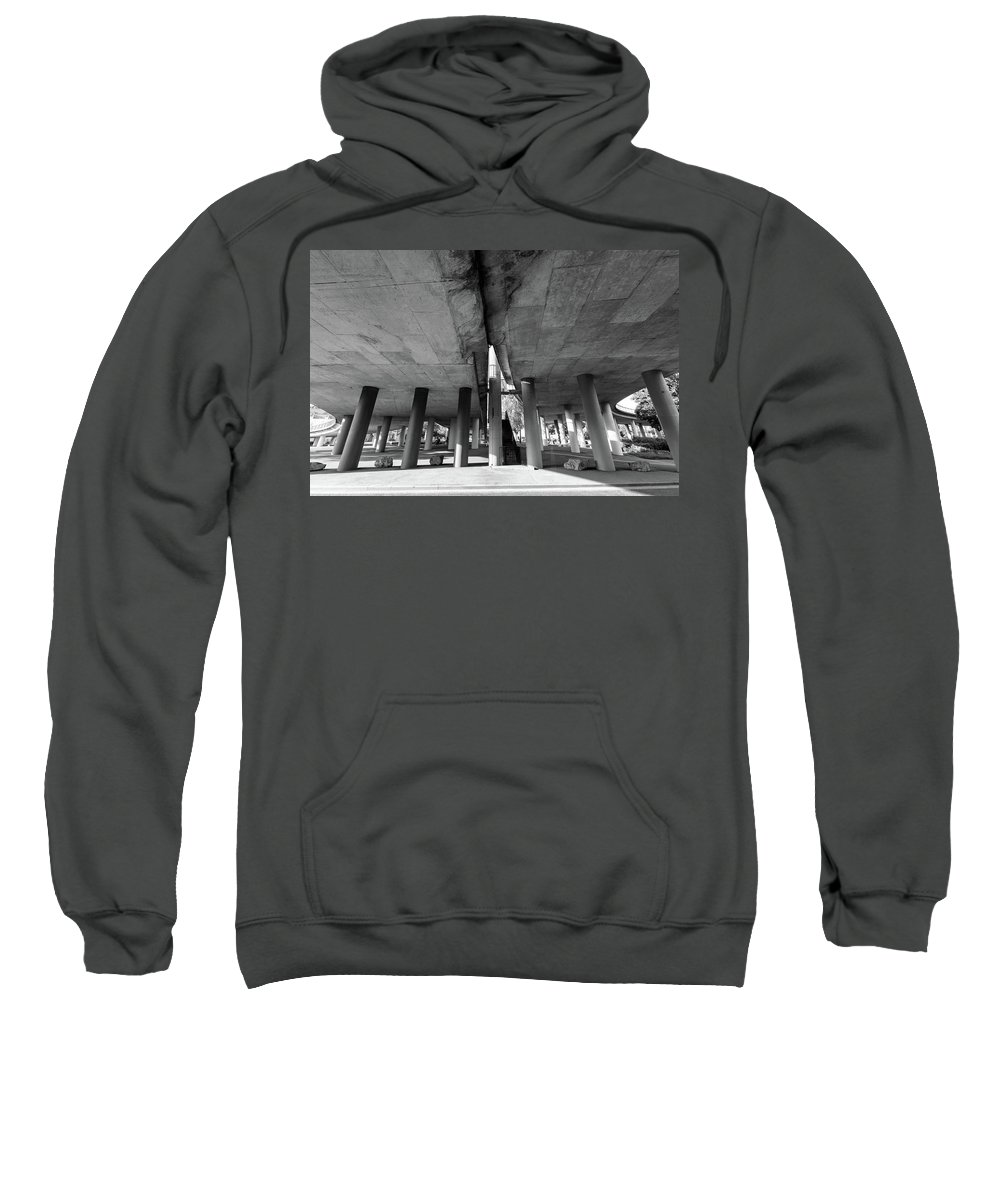 Architecture Sweatshirt featuring the photograph Under The Viaduct A Urban View by Jacek Wojnarowski