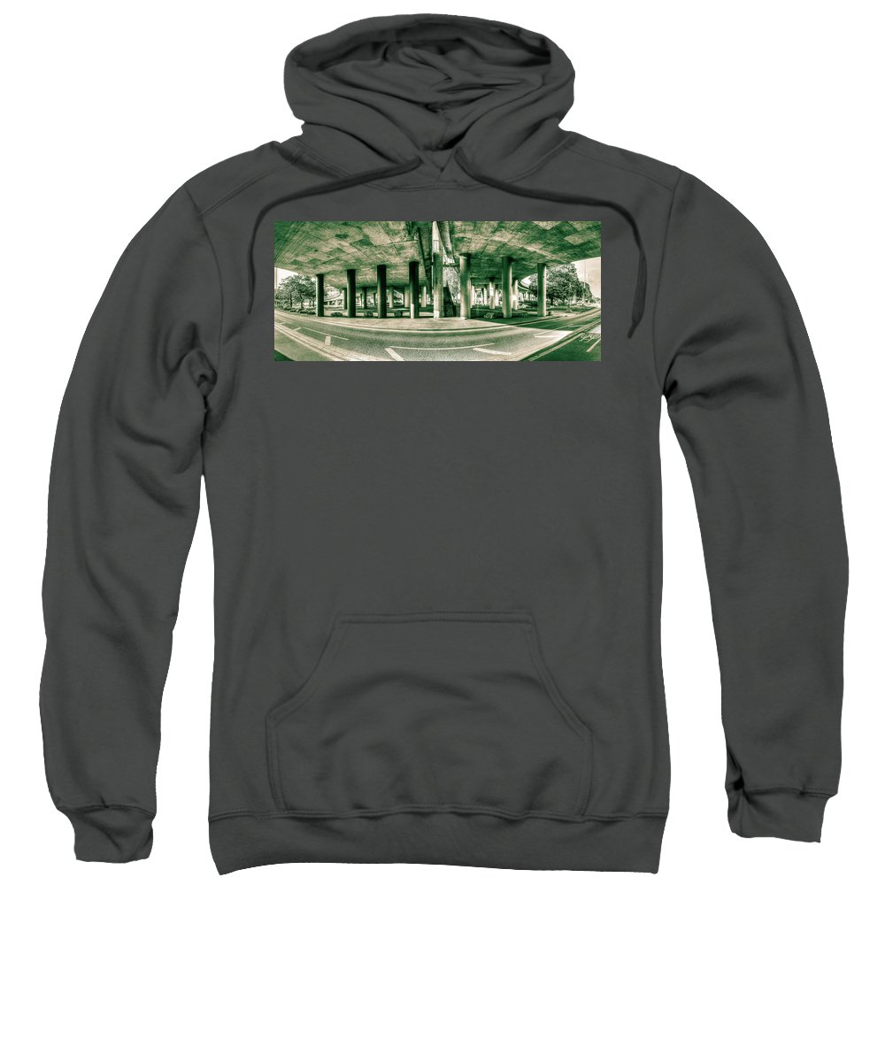 Architecture Sweatshirt featuring the photograph Under The Viaduct C Panoramic Urban View by Jacek Wojnarowski