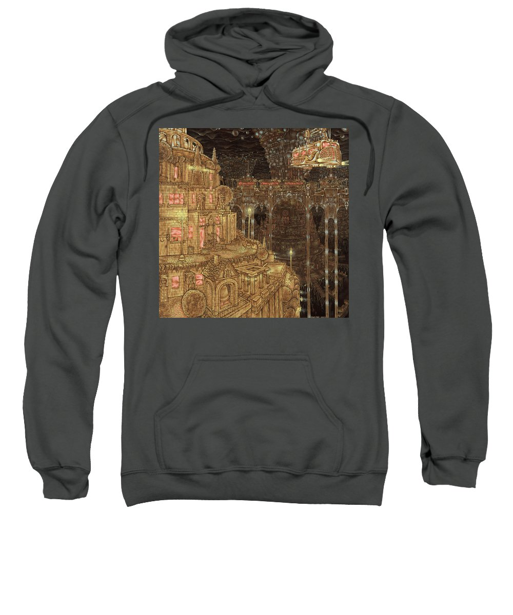 Science Fiction Sweatshirt featuring the painting Underground by Dwayne Hall