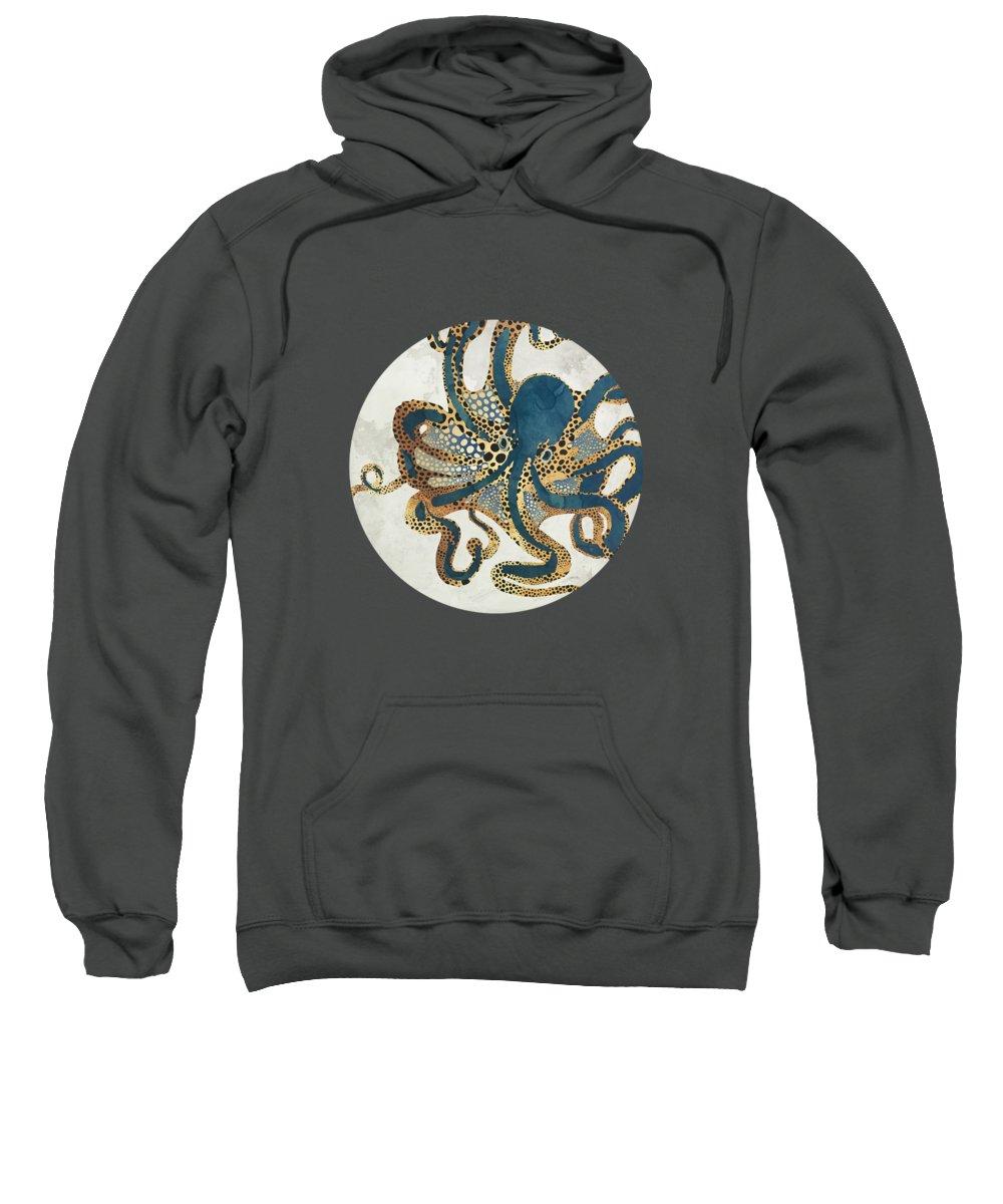 Octopus Sweatshirt featuring the digital art Underwater Dream Vi by Spacefrog Designs