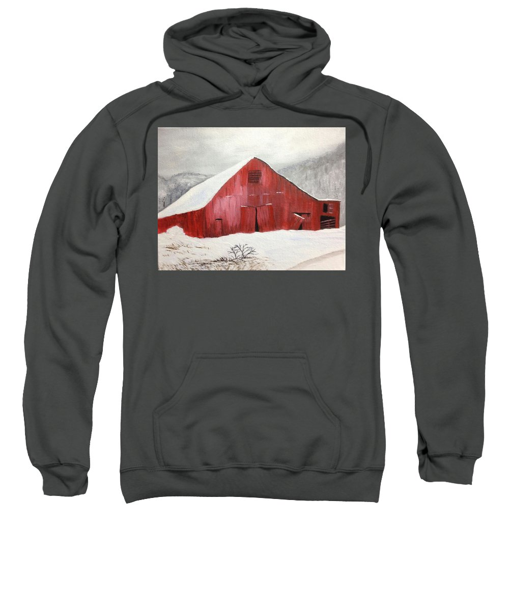 Barn Sweatshirt featuring the painting Unforgettable by Evelyn Bloomer