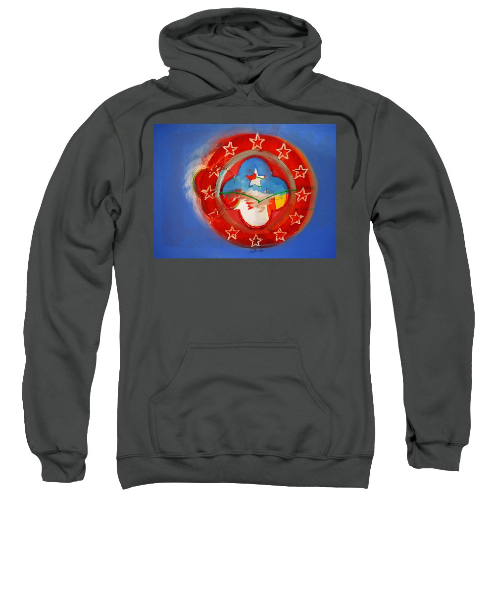 Symbol Sweatshirt featuring the painting Union Blue by Charles Stuart