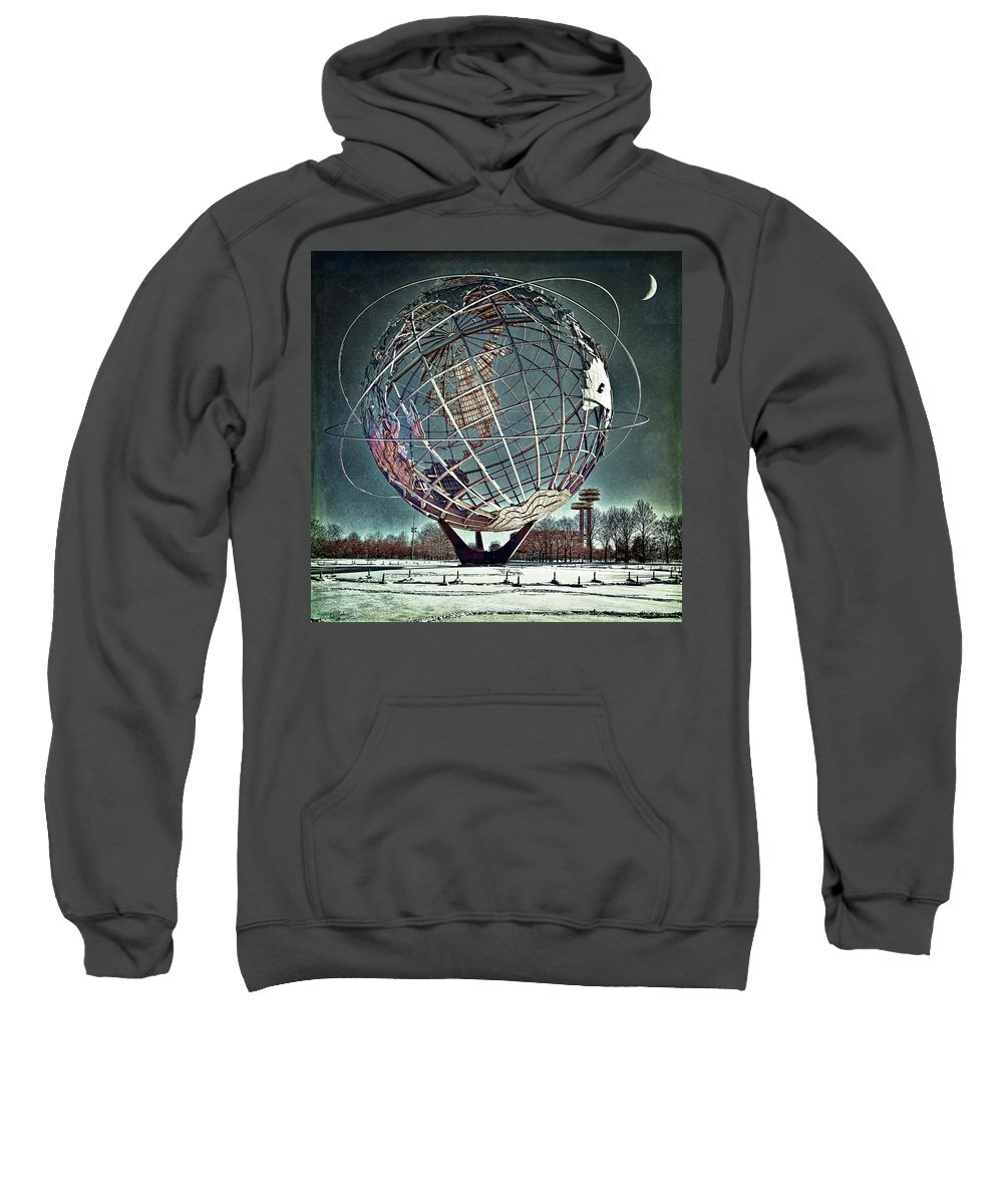 Unisphere Sweatshirt featuring the photograph Unisphere by Chris Lord