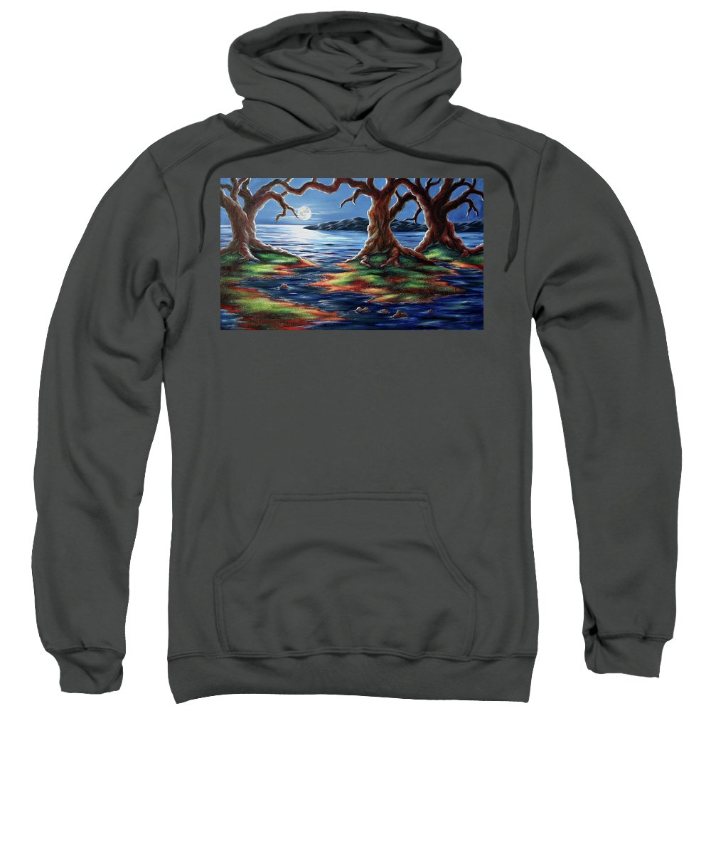 Textured Painting Sweatshirt featuring the painting United Trees by Jennifer McDuffie