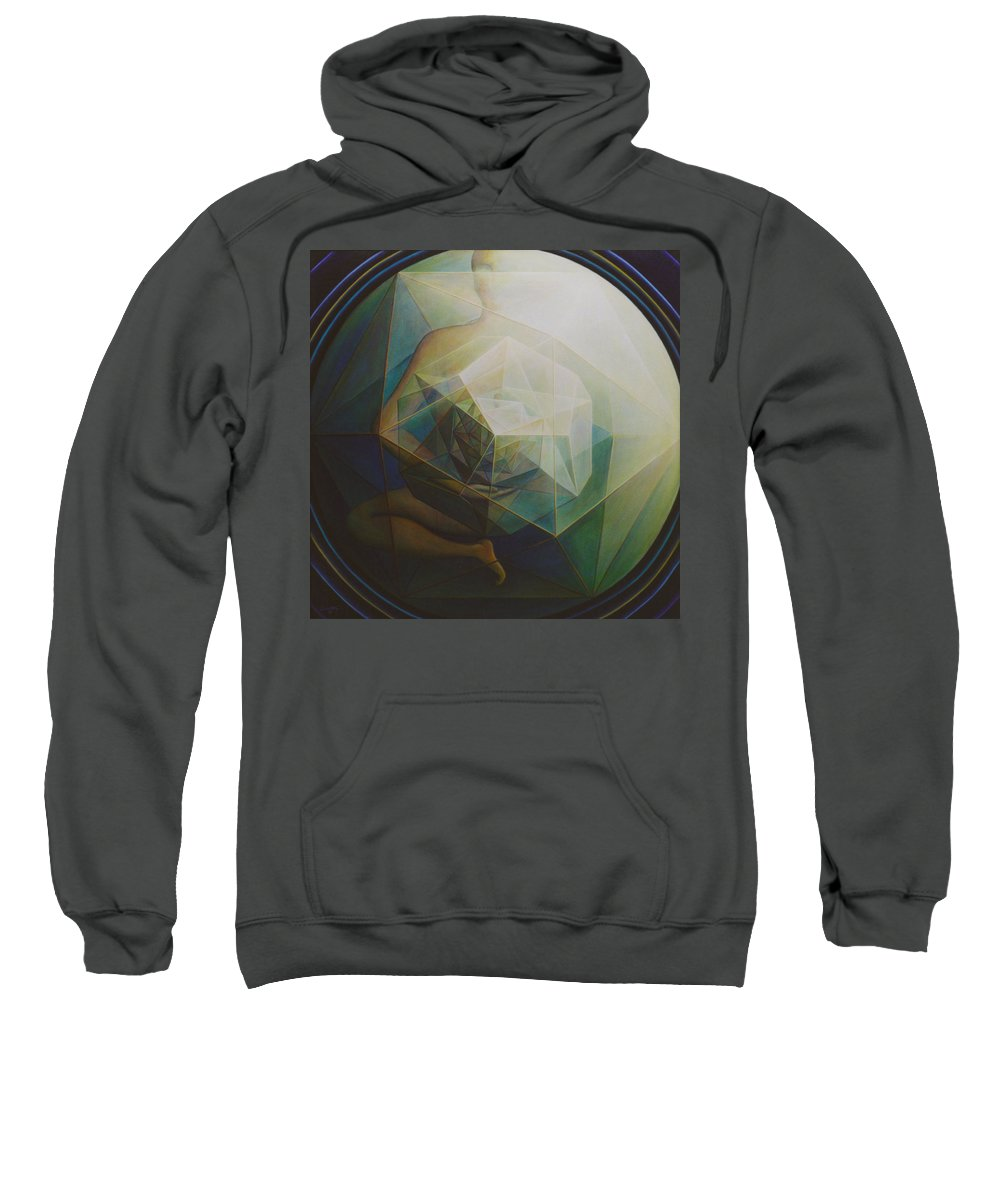Spiritual Paintings Sweatshirt featuring the painting Universal Map by Nad Wolinska