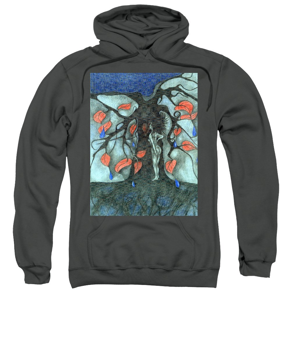 Energy Sweatshirt featuring the painting Unmarried Woman by Wojtek Kowalski