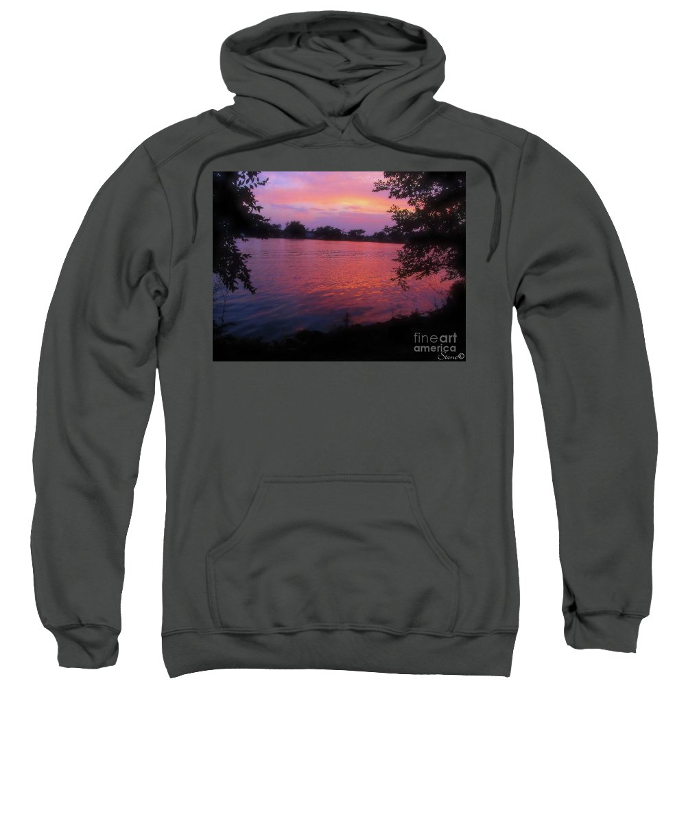 Sunset Sweatshirt featuring the photograph Until December by September Stone