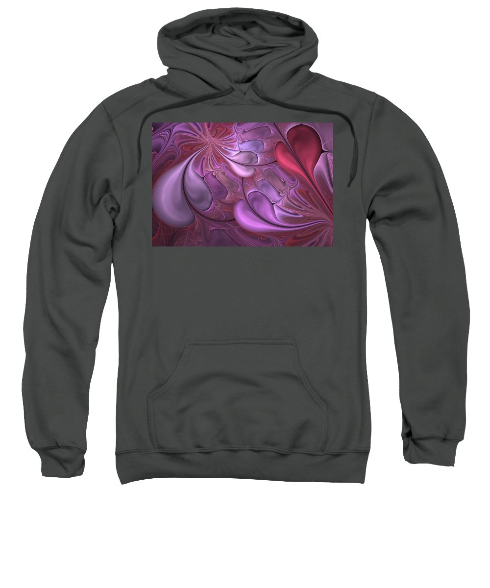 Digital Painting Sweatshirt featuring the digital art Untitled 1-26-10 Valentine by David Lane