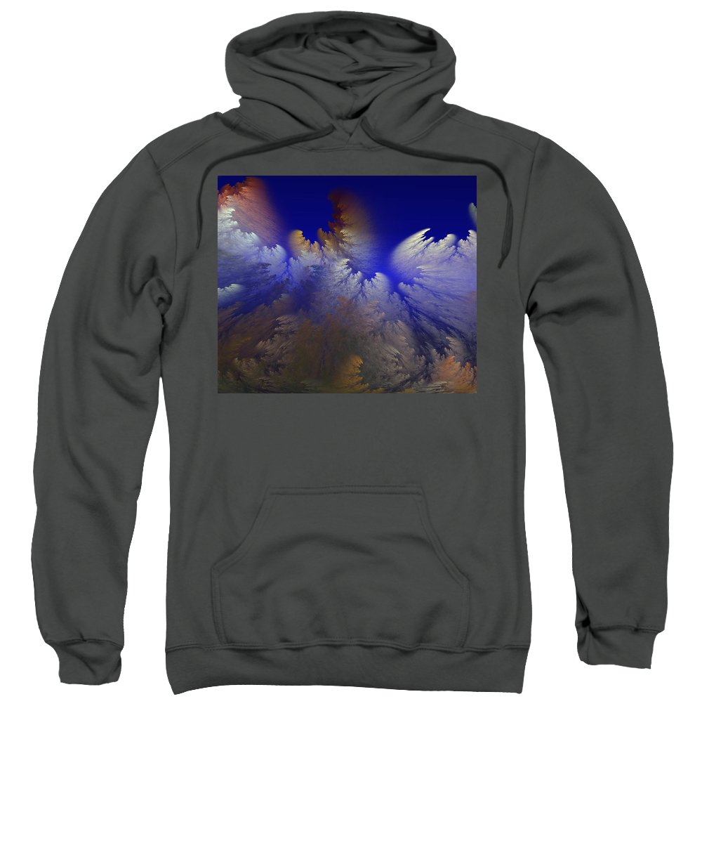 Abstract Digital Painting Sweatshirt featuring the digital art Untitled 11-1-09 by David Lane