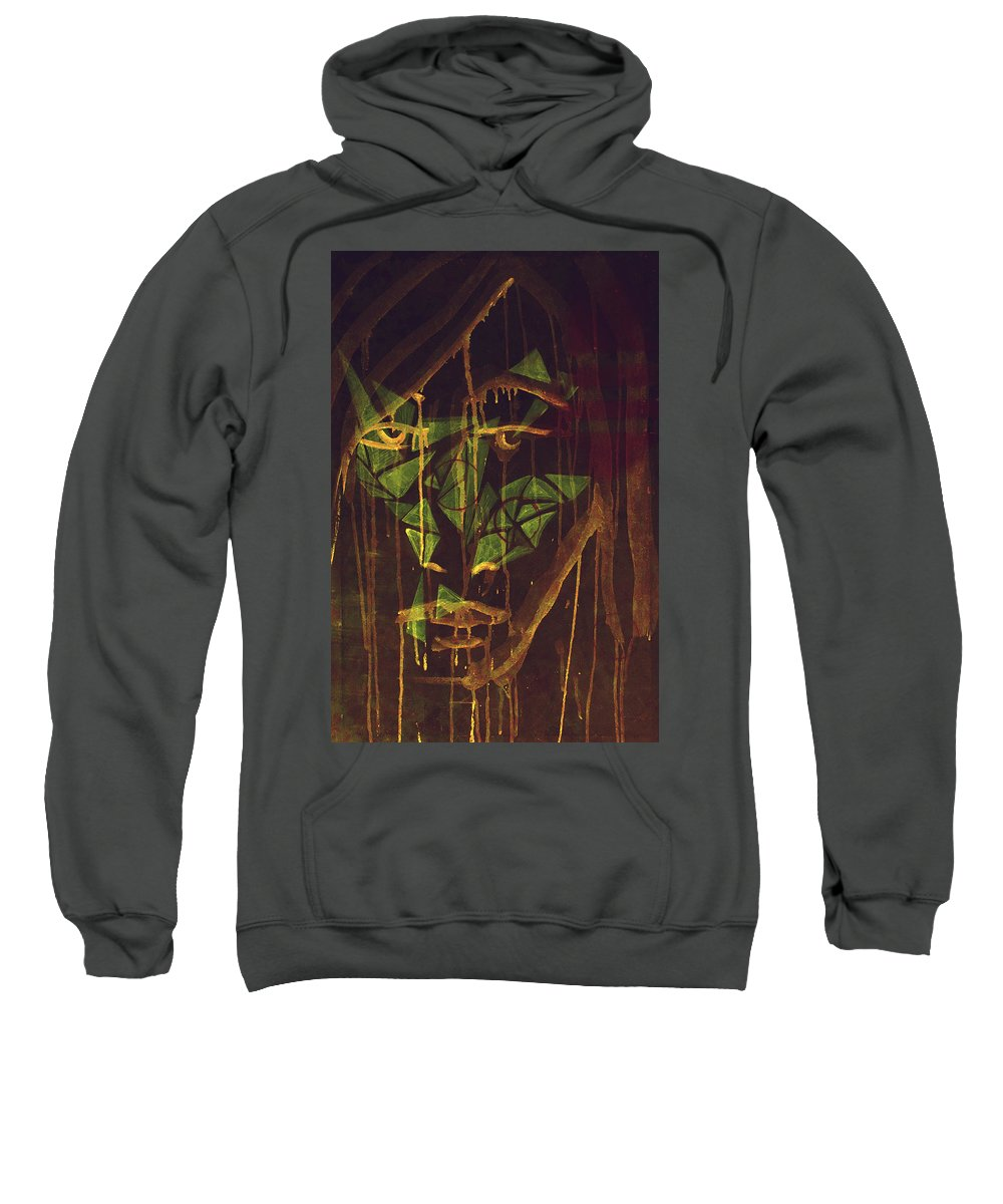 Me Sweatshirt featuring the painting Untitled by Furqi Faiq