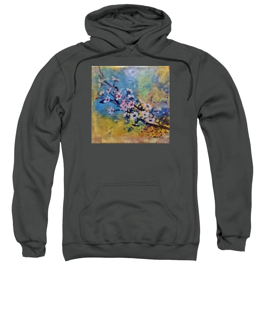 Blooms Sweatshirt featuring the painting Untitled by Karen Brown