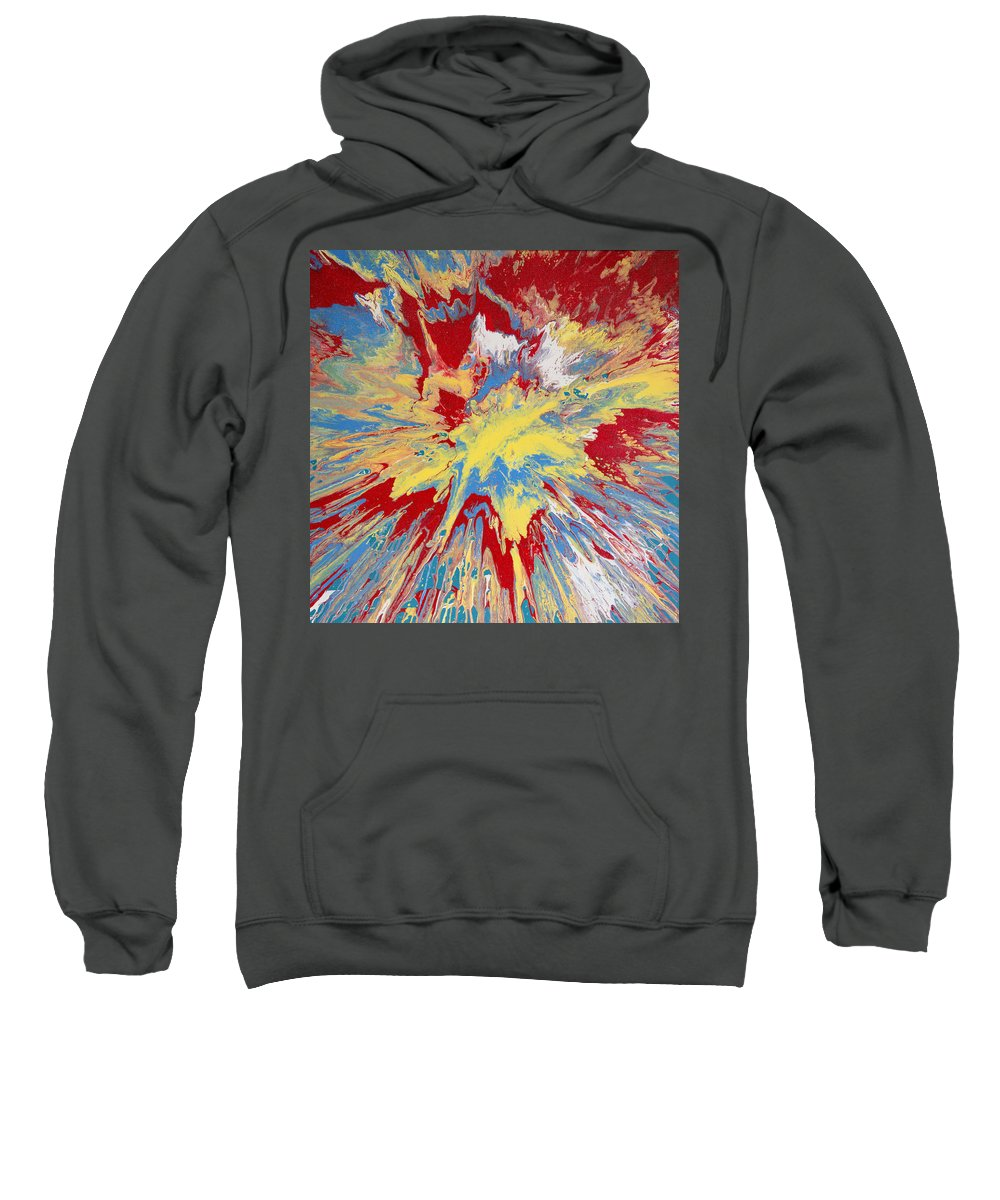 Abstract Painting Sweatshirt featuring the painting Forces Of Gravity by Ron Kirkland