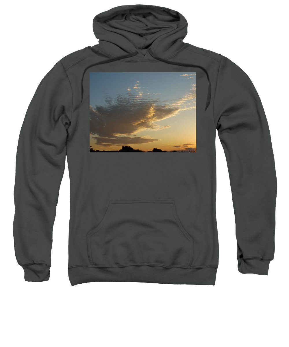 Cloud Sweatshirt featuring the photograph Unusual Cloud At Sunset by Pamela Pursel