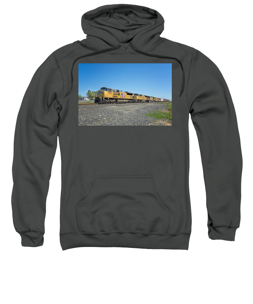 California Sweatshirt featuring the photograph Up8412 by Jim Thompson