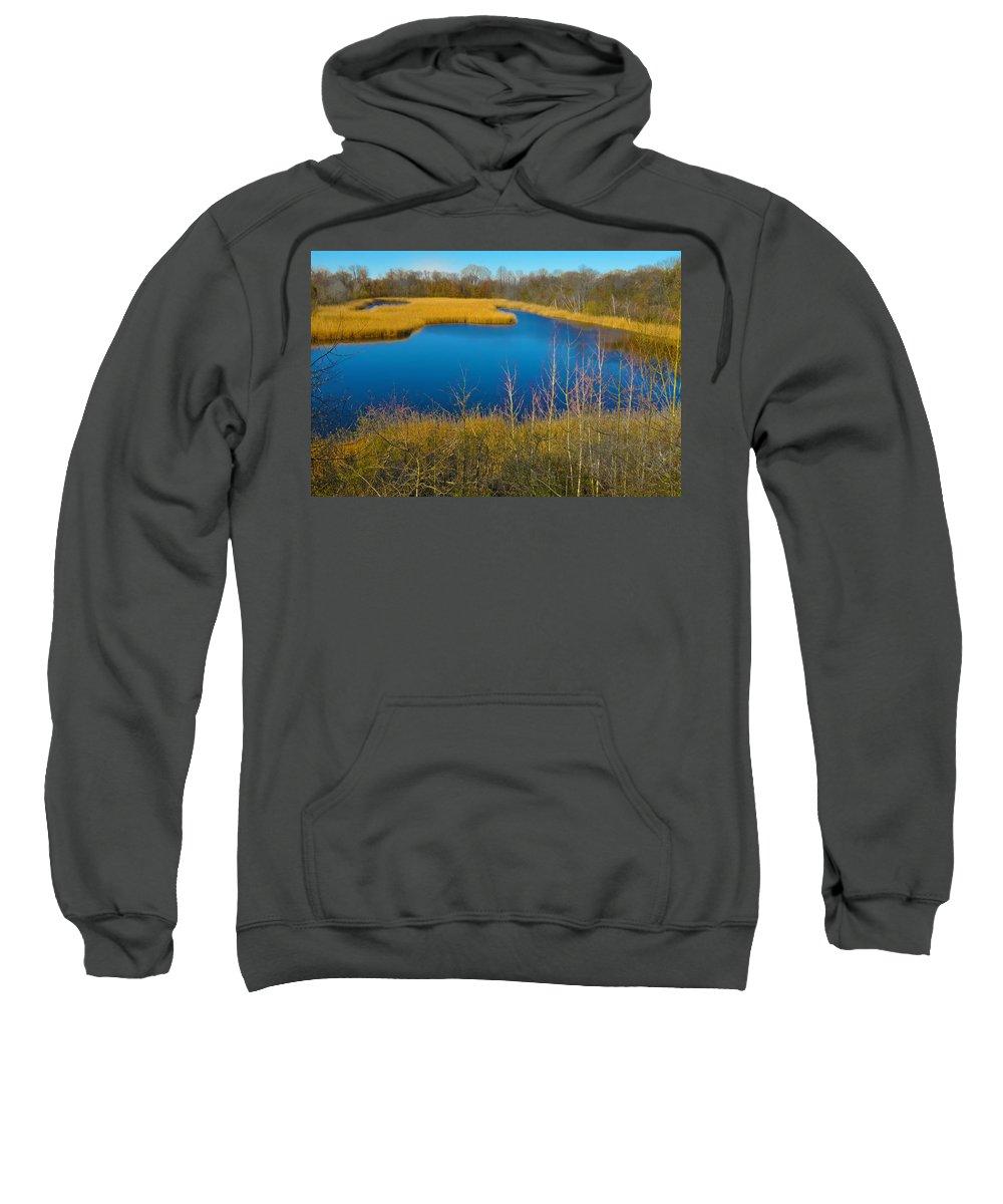 Philadelphia Sweatshirt featuring the photograph Upper Roxborough Reservoir by Bill Cannon