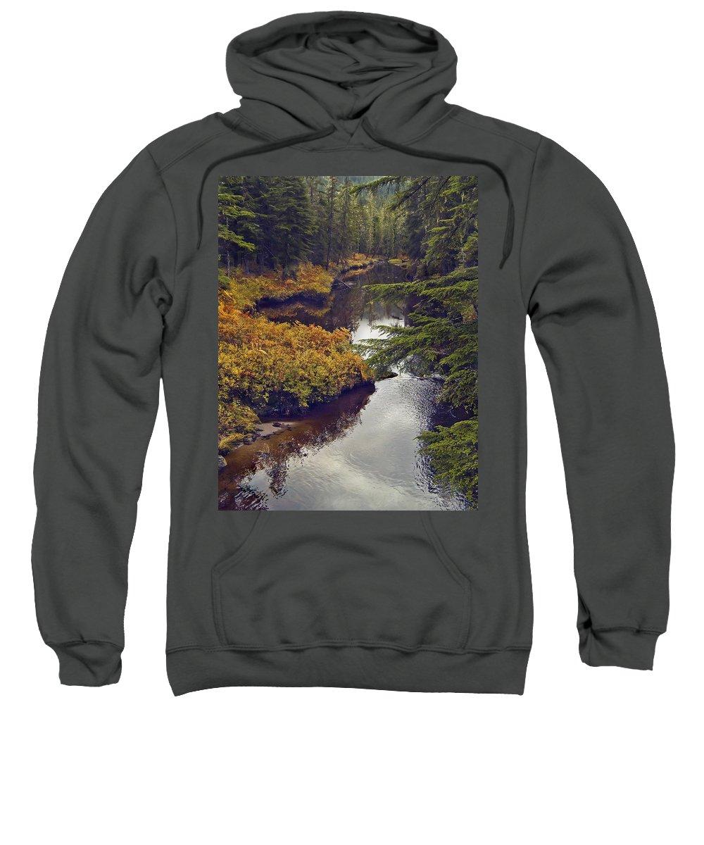 Wrangell Island Alaska Sweatshirt featuring the photograph Upper Salamander Creek by Richard Rivard