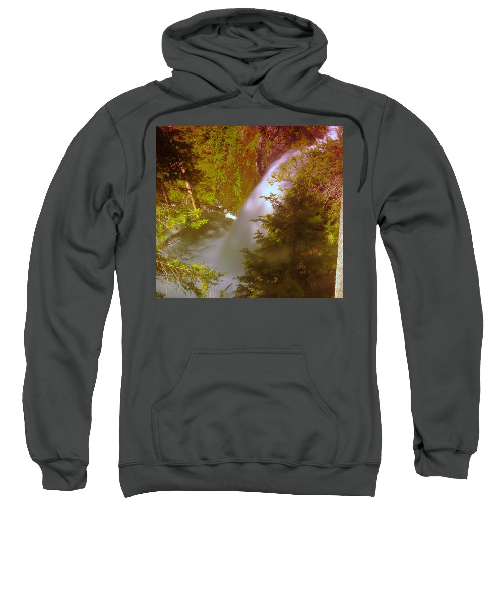 Waterfalls Sweatshirt featuring the photograph Upper Union Creek Falls by Jeff Swan