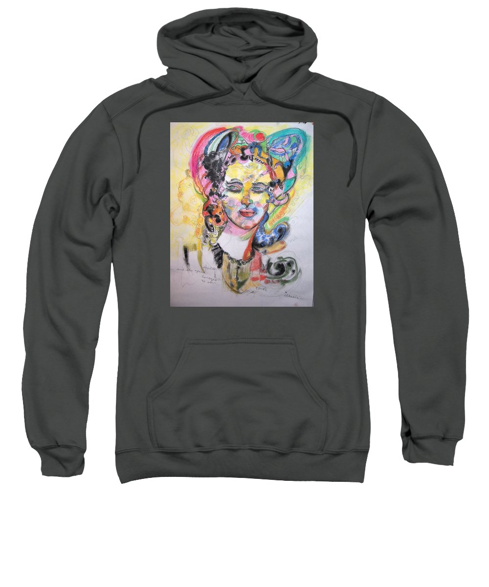 Colorful Pastel Sweatshirt featuring the drawing Urban Beauty by Mykul Anjelo