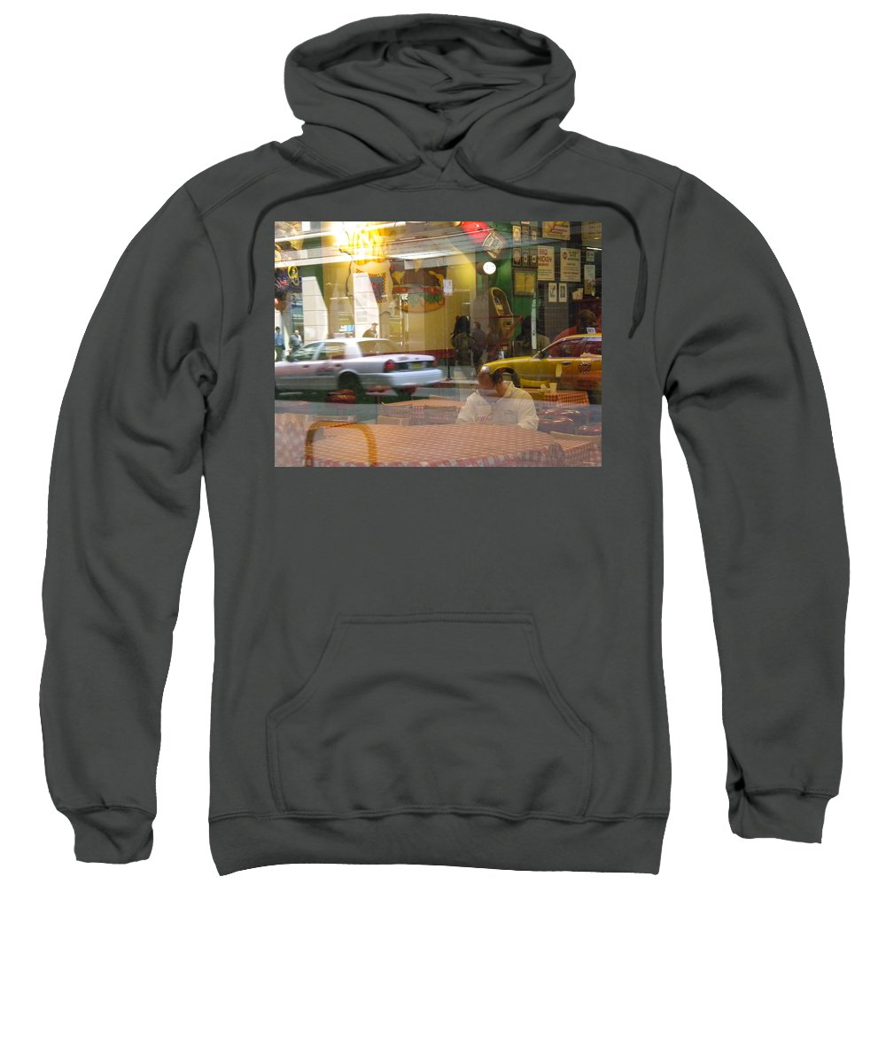 City Scene Sweatshirt featuring the photograph Urban Maze by Jan Gilmore