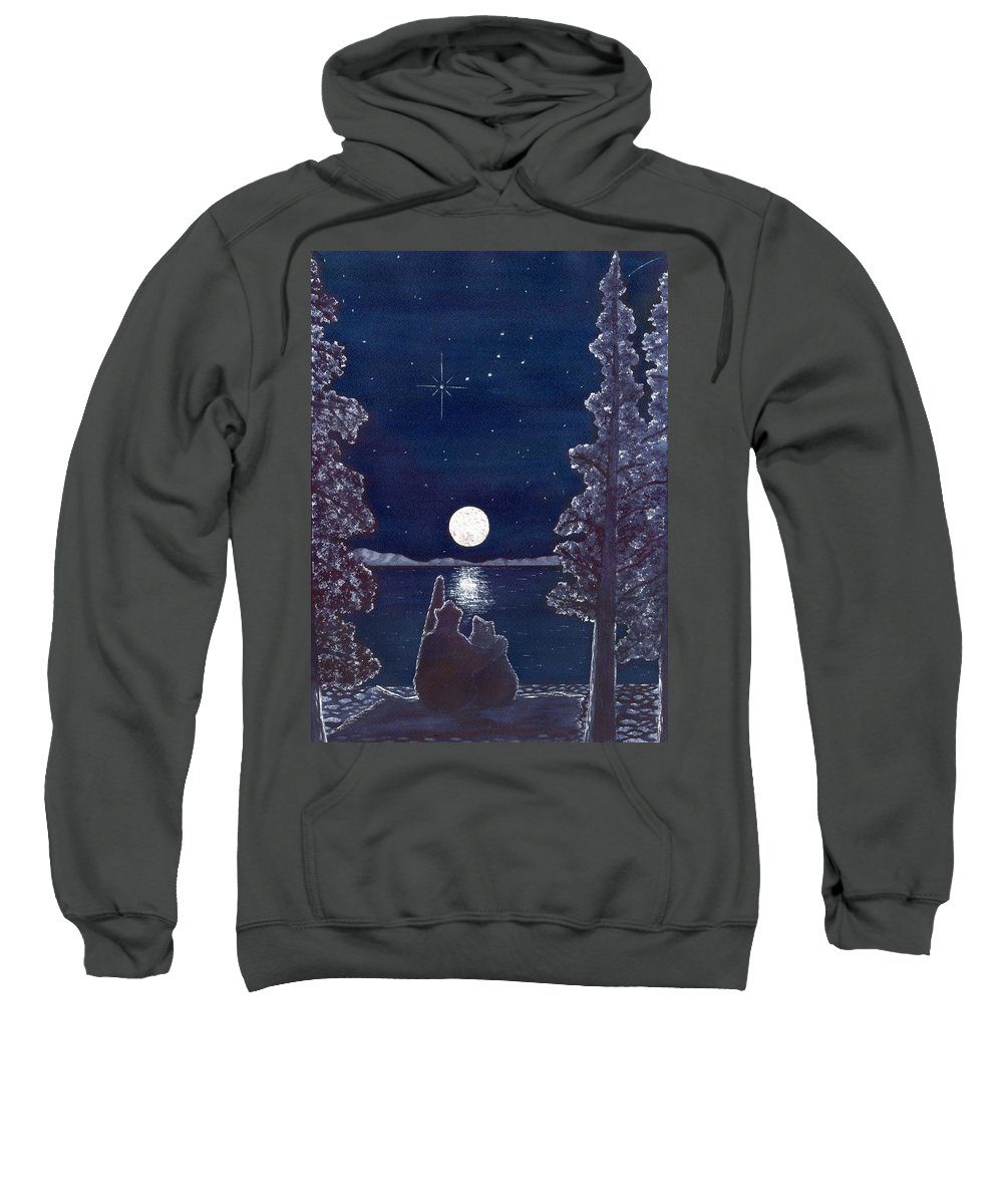 Bear Sweatshirt featuring the painting Ursa Minor by Catherine G McElroy
