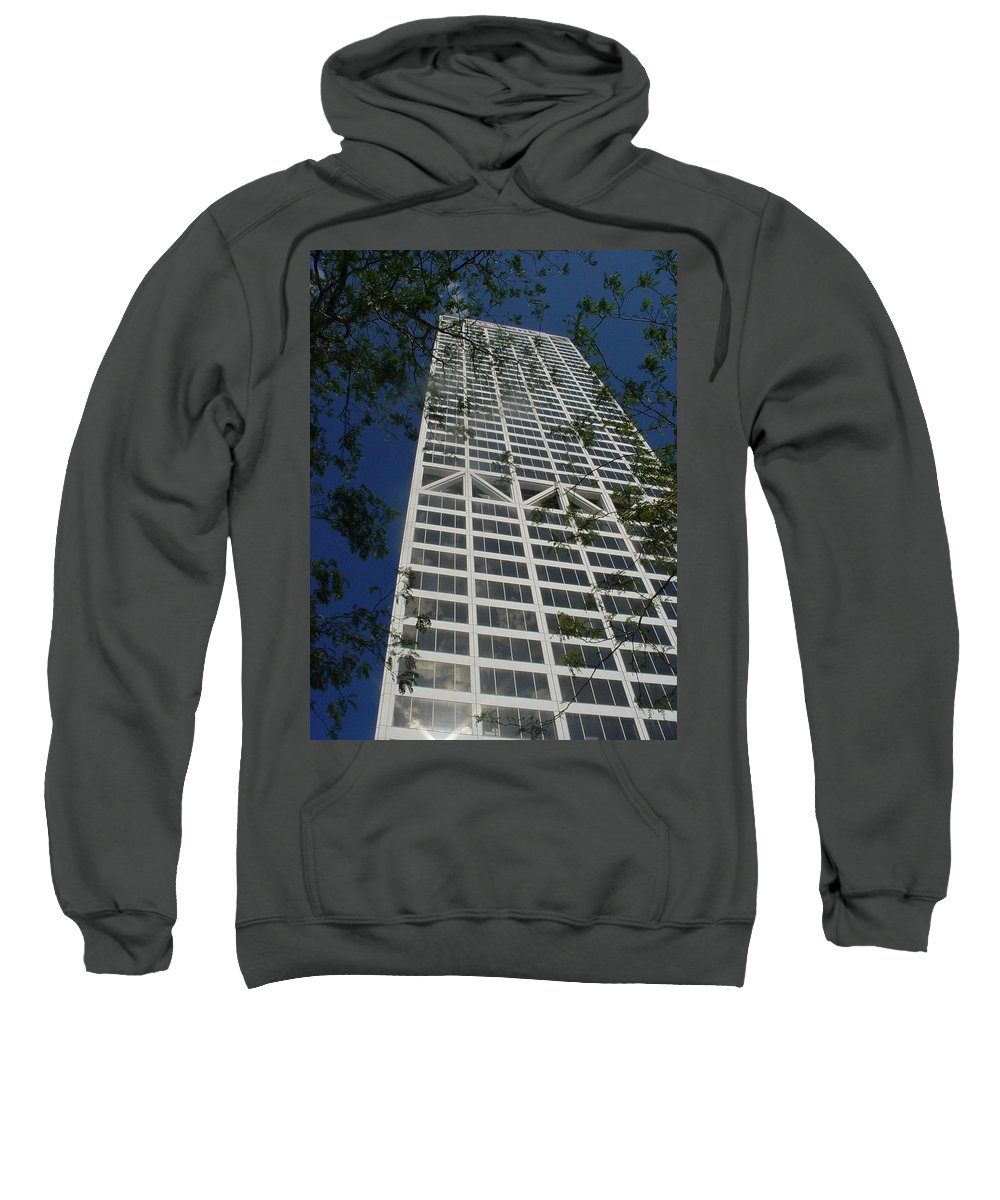 Us Bank Sweatshirt featuring the photograph Us Bank With Trees by Anita Burgermeister