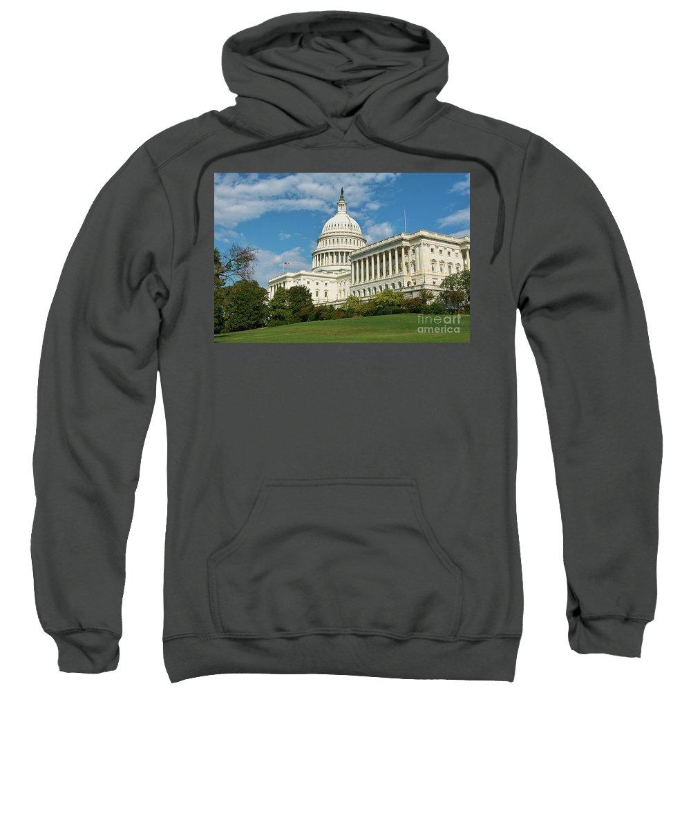 Congress Sweatshirt featuring the photograph Us Capitol Washington Dc by Kimberly Blom-Roemer