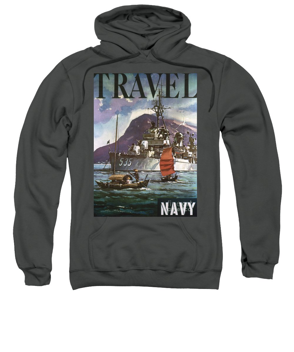 1930s Sweatshirt featuring the photograph U.s. Navy Travel Poster by Granger