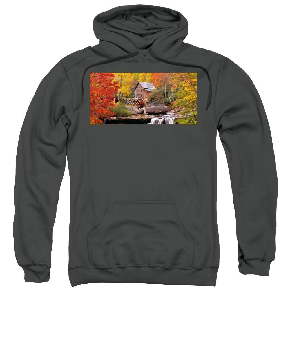 Photography Sweatshirt featuring the photograph Usa, West Virginia, Glade Creek Grist by Panoramic Images