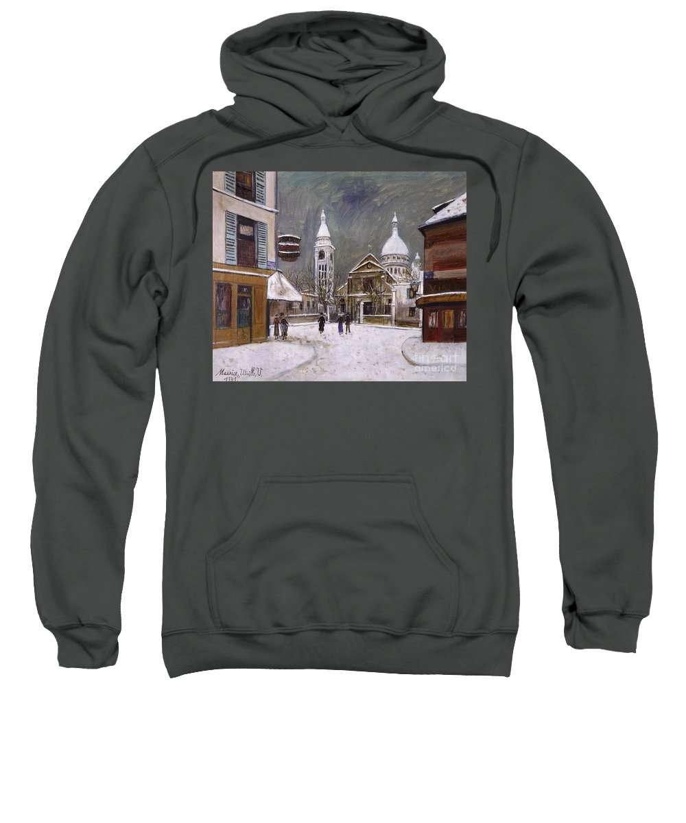 1931 Sweatshirt featuring the photograph Utrillo: Montmartre, 1931 by Granger