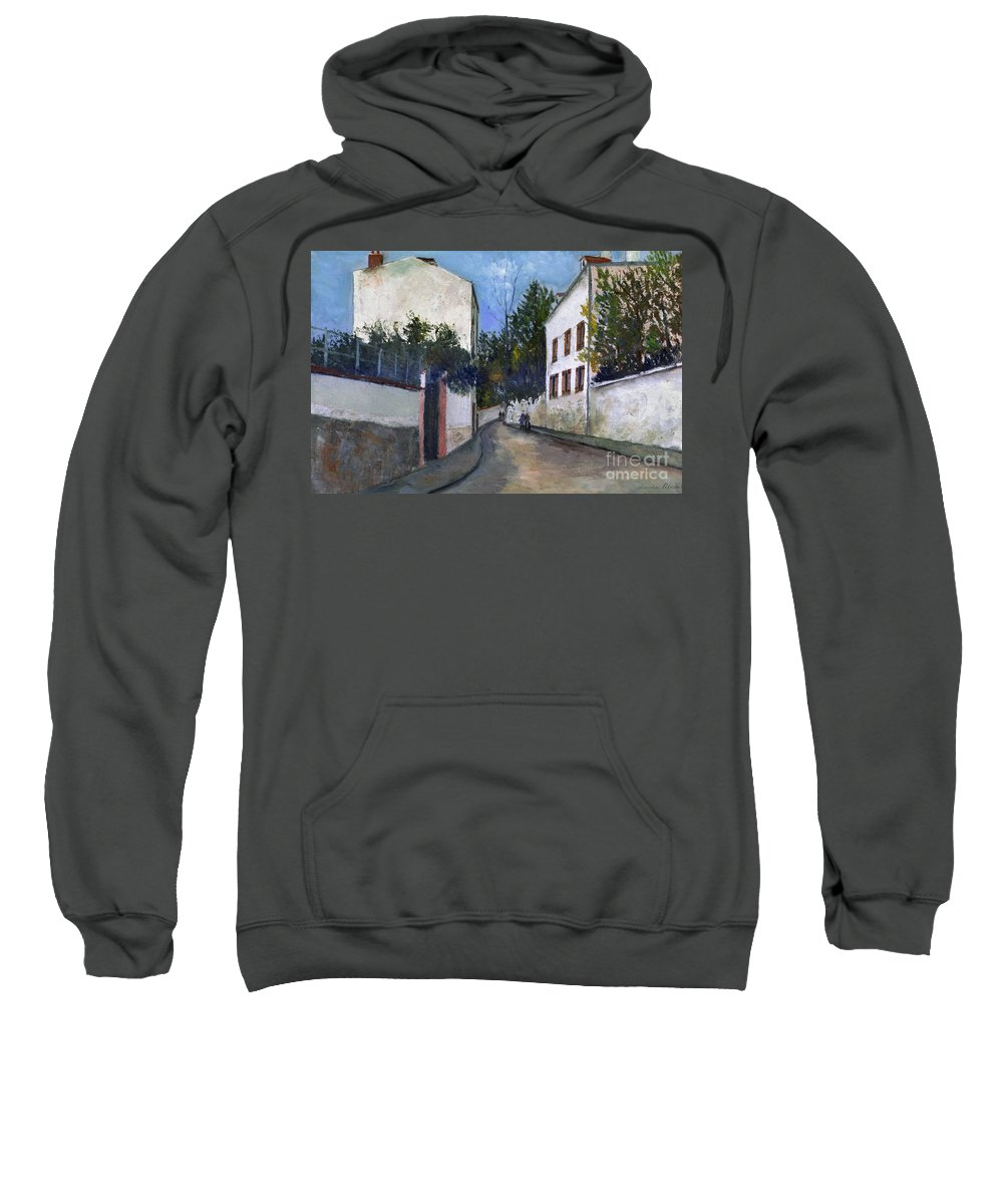 1912 Sweatshirt featuring the photograph Utrillo: Sannois, 1912 by Granger