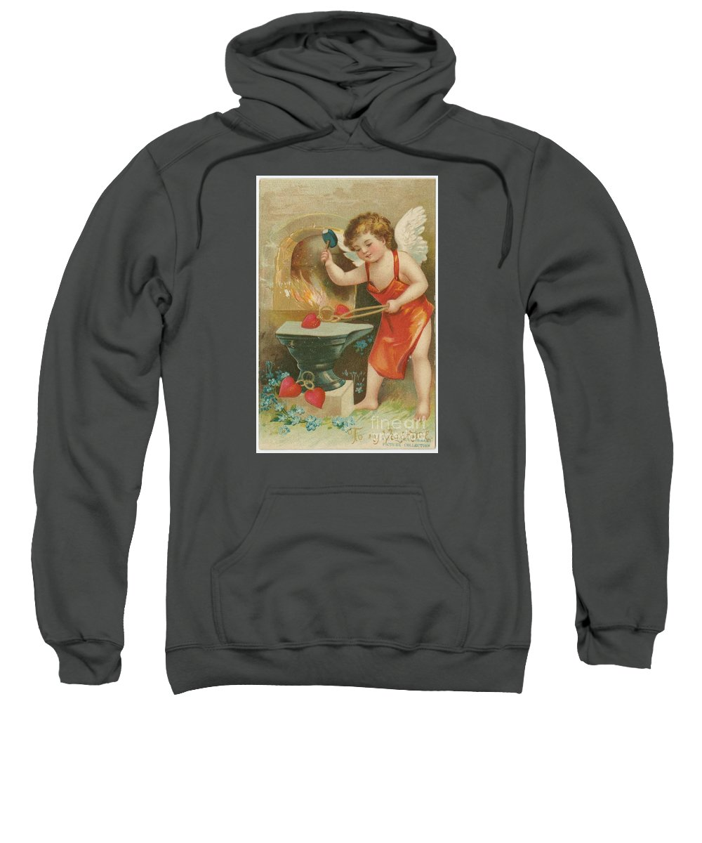 Valentine Design Five Sweatshirt featuring the painting Valentine Design Five by Pd