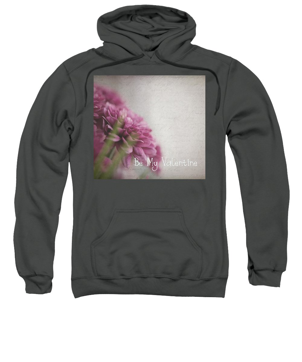 Valentine's Day Sweatshirt featuring the photograph Valentine Flowers by Cathryn Hardwick