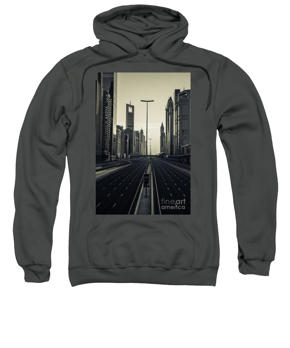 Dubai Sweatshirt featuring the photograph Valley Of The 11 by Digital Kulprits