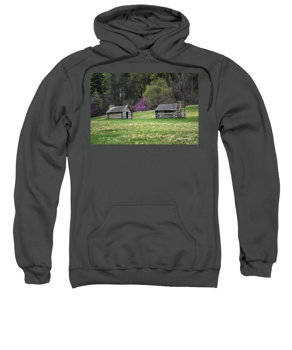 American Revolution Sweatshirt featuring the photograph Vally Forge Park by John Greim