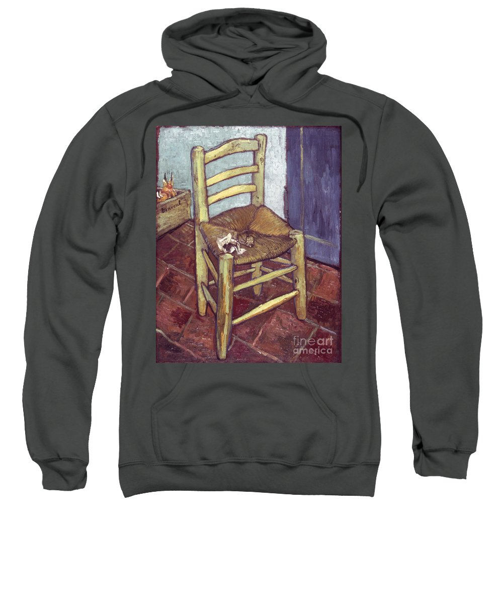 1888 Sweatshirt featuring the photograph Van Gogh: Chair, 1888-89 by Granger
