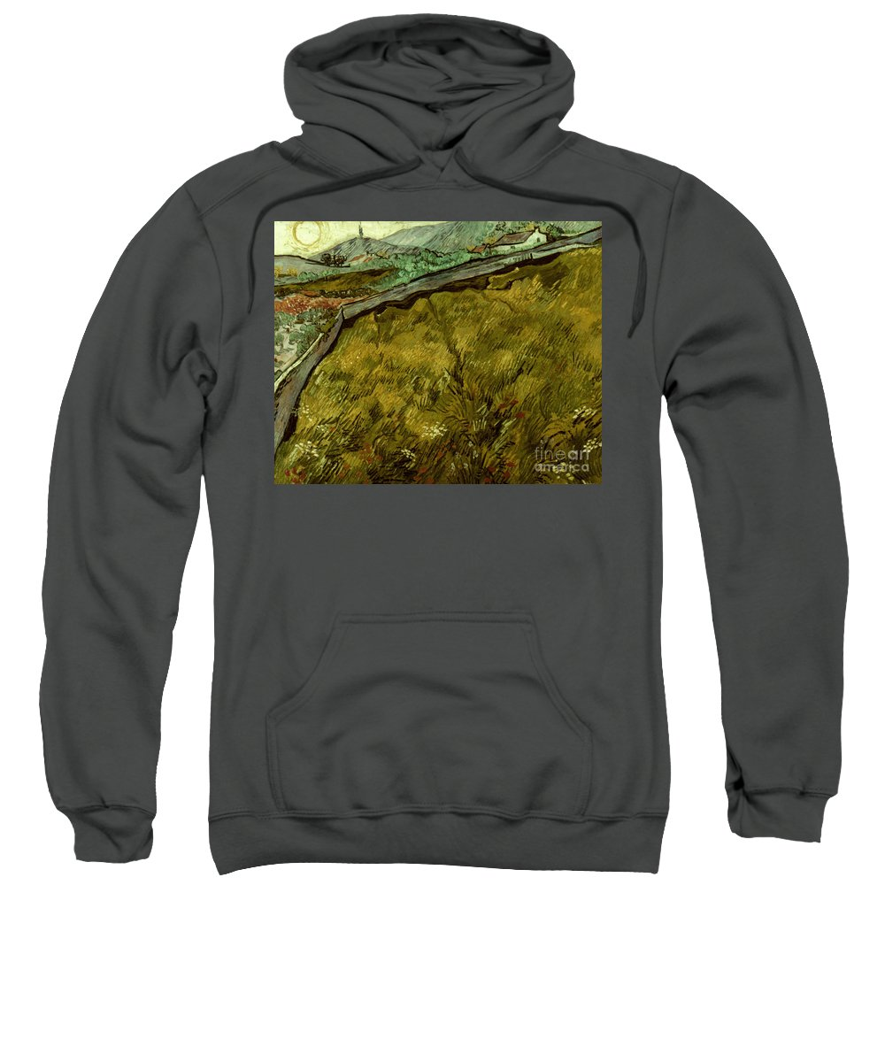 1890 Sweatshirt featuring the photograph Van Gogh: Field, 1890 by Granger