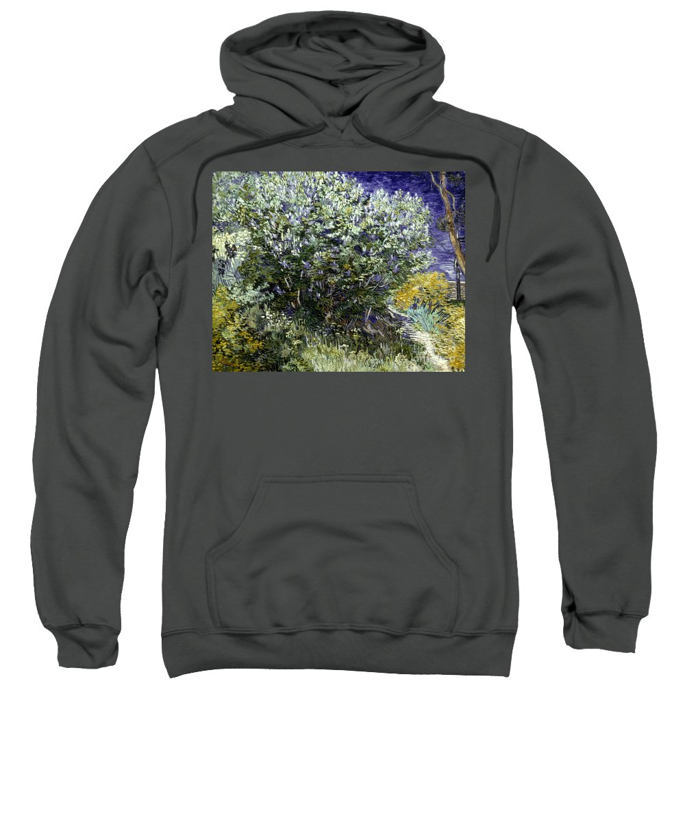 19th Century Sweatshirt featuring the photograph Van Gogh: Lilacs, 19th C by Granger