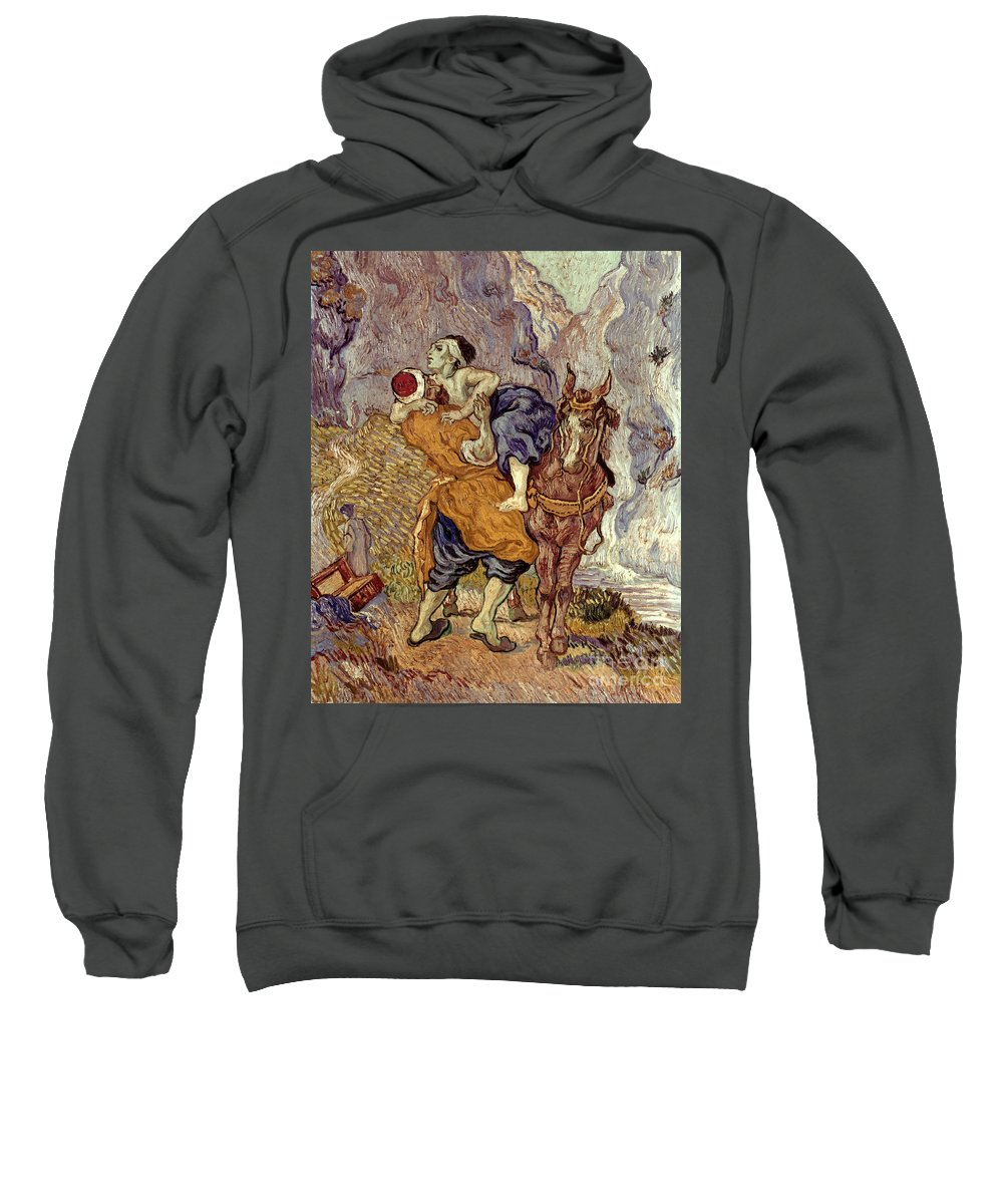 1890 Sweatshirt featuring the photograph Van Gogh: Samaritan, 1890 by Granger