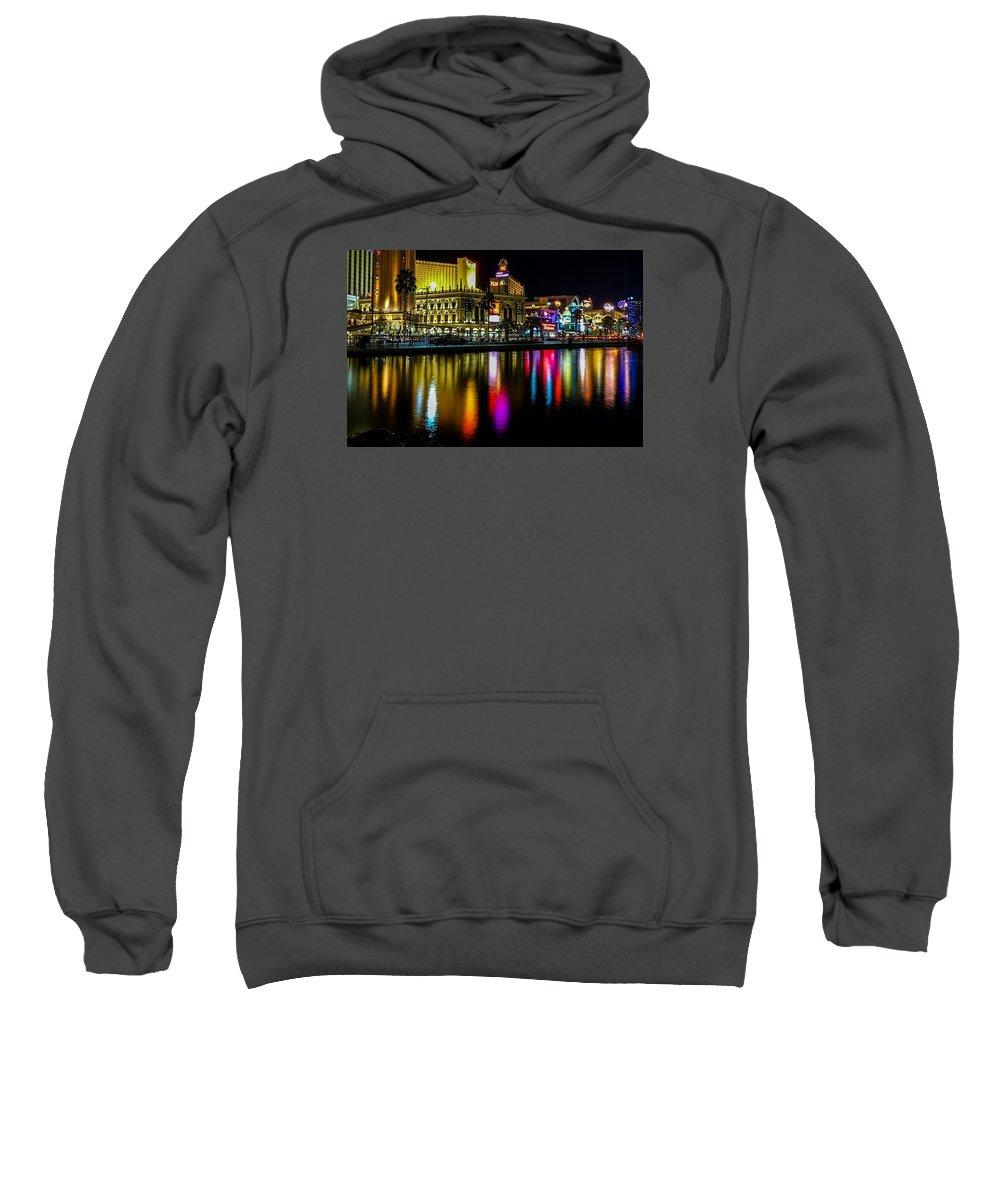 Landscape Sweatshirt featuring the photograph Vegas Reflections by Brandon Johnson