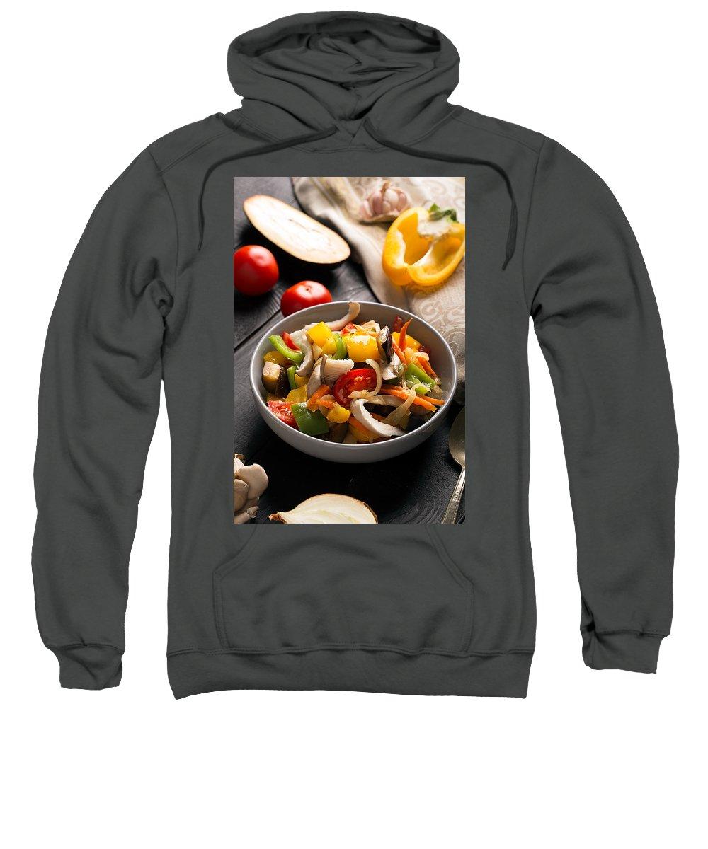 Vadim Goodwill Sweatshirt featuring the photograph Vegetables Stir Fry by Vadim Goodwill