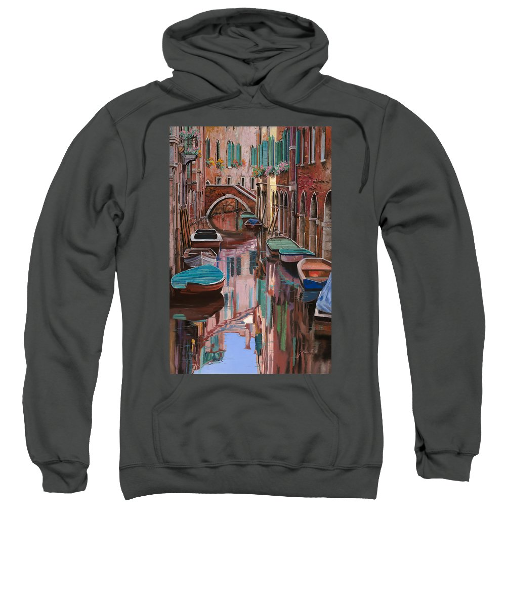 Venice Sweatshirt featuring the painting Venezia A Colori by Guido Borelli