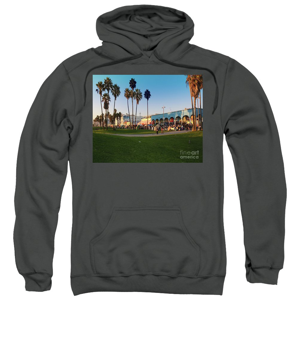 Venice Beach Sweatshirt featuring the photograph Venice Beach by Kelly Holm