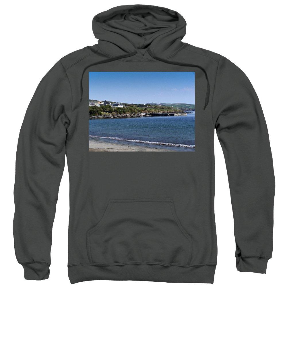 Irish Sweatshirt featuring the photograph Ventry Beach And Harbor Ireland by Teresa Mucha