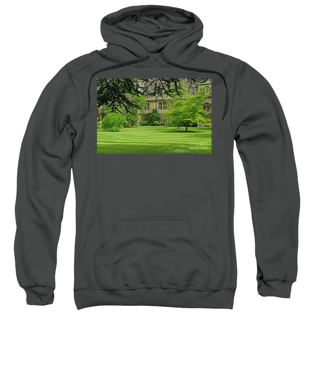 England Sweatshirt featuring the photograph Verdant England by Ann Horn
